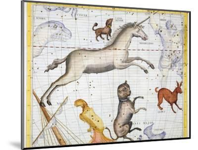 Constellations of Monoceros, Canis Major and Canis Minor, 1729-Unknown-Mounted Giclee Print