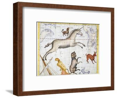 Constellations of Monoceros, Canis Major and Canis Minor, 1729-Unknown-Framed Giclee Print