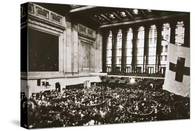 Trading floor of the New York Stock Exchange, USA, early 1930s-Unknown-Stretched Canvas Print