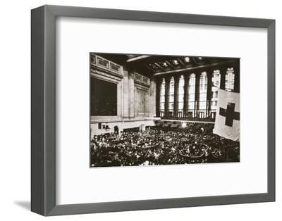 Trading floor of the New York Stock Exchange, USA, early 1930s-Unknown-Framed Photographic Print