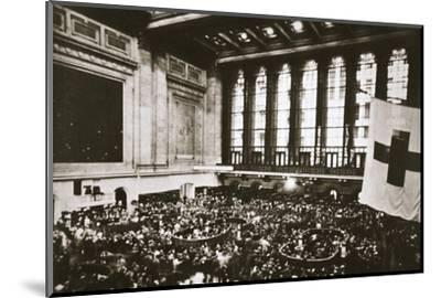 Trading floor of the New York Stock Exchange, USA, early 1930s-Unknown-Mounted Photographic Print