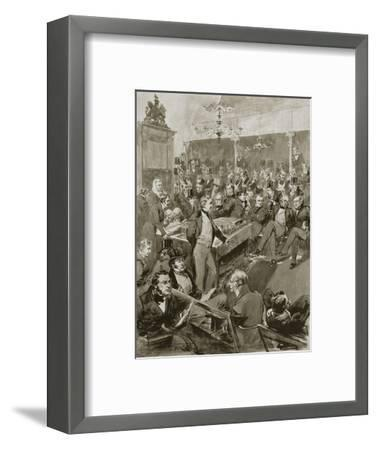 Scene in the House of Commons, London, 22 January 1846 (1901)-Unknown-Framed Giclee Print