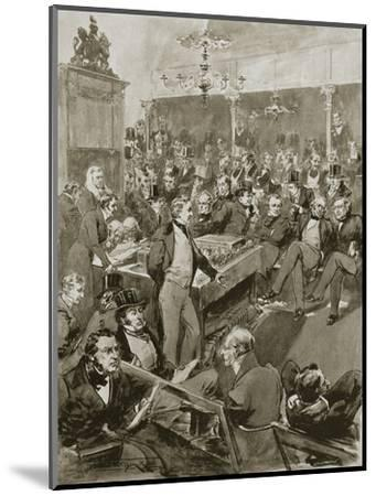Scene in the House of Commons, London, 22 January 1846 (1901)-Unknown-Mounted Giclee Print