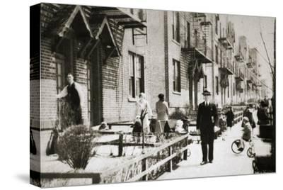 A street in the Borough of Queens, New York, USA, early 1930s-Unknown-Stretched Canvas Print