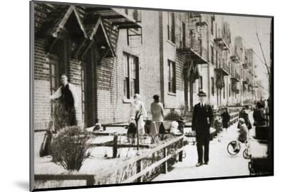 A street in the Borough of Queens, New York, USA, early 1930s-Unknown-Mounted Photographic Print