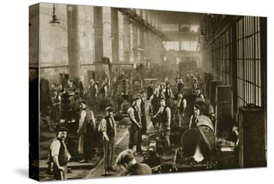 A blacksmith's shop at Beckton Gas Works, London, 20th century-Unknown-Stretched Canvas Print