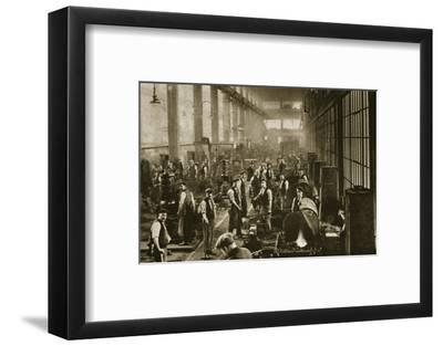 A blacksmith's shop at Beckton Gas Works, London, 20th century-Unknown-Framed Photographic Print