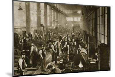 A blacksmith's shop at Beckton Gas Works, London, 20th century-Unknown-Mounted Photographic Print
