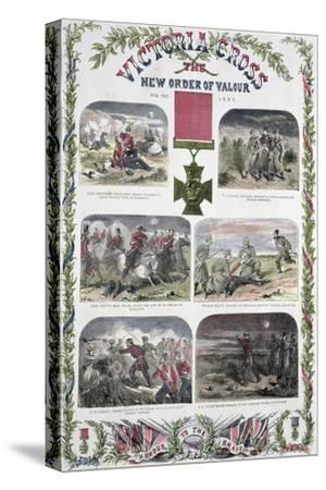 'Victoria Cross, the New Order of Valour for the Army', c1857-Unknown-Stretched Canvas Print
