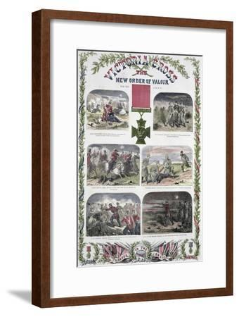 'Victoria Cross, the New Order of Valour for the Army', c1857-Unknown-Framed Giclee Print