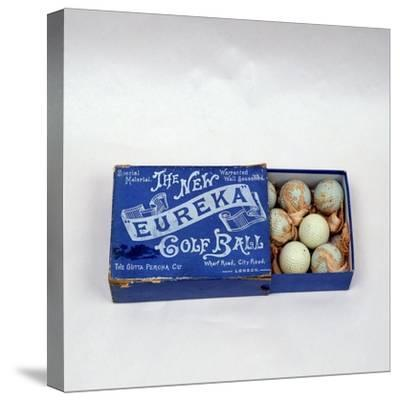 Eureka golf ball box, made by the Gutta Percha Co, London, c1898-Unknown-Stretched Canvas Print