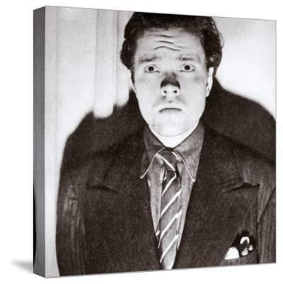 Orson Welles, American actor and film director, 30 October 1938-Unknown-Stretched Canvas Print