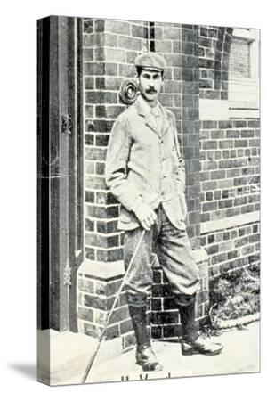 Harry Vardon (1870-1937), British golfer, cigarette card, c1903-Unknown-Stretched Canvas Print