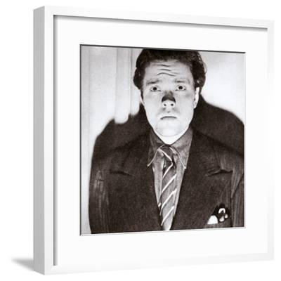 Orson Welles, American actor and film director, 30 October 1938-Unknown-Framed Photographic Print