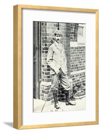 Harry Vardon (1870-1937), British golfer, cigarette card, c1903-Unknown-Framed Giclee Print