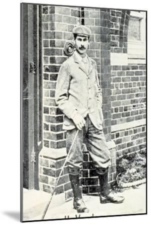 Harry Vardon (1870-1937), British golfer, cigarette card, c1903-Unknown-Mounted Giclee Print