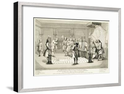 Assembly of Freemasons before the initiation of a master, c1733-Unknown-Framed Giclee Print