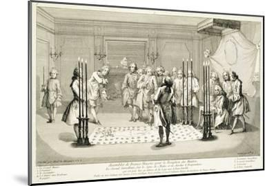 Assembly of Freemasons before the initiation of a master, c1733-Unknown-Mounted Giclee Print