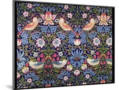 'The Strawberry Thief', textile designed by William Morris, 1883-William Morris-Mounted Premium Giclee Print