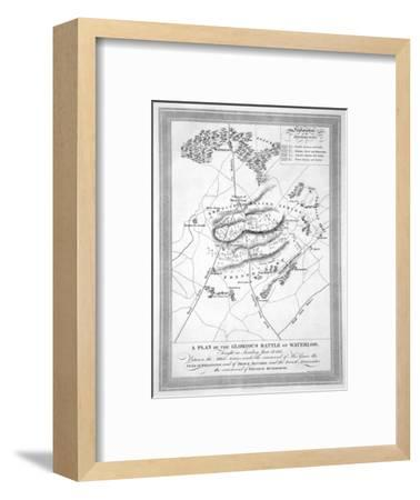 'A Plan of the Glorious Battle of Waterloo', 1815 (19th century)-Unknown-Framed Giclee Print