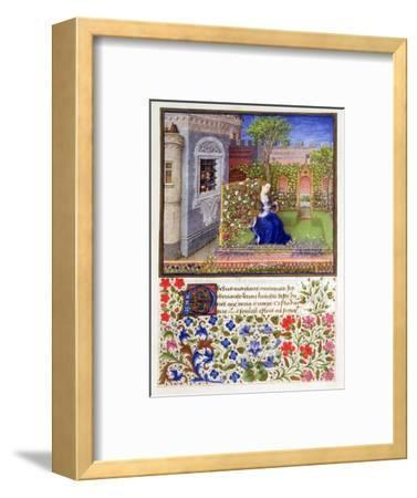 The prisoners listening to Emily singing in the garden, 1340-1341-Unknown-Framed Giclee Print