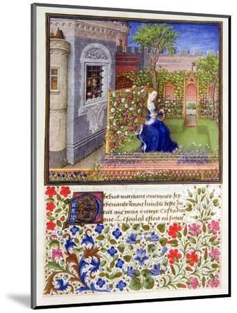 The prisoners listening to Emily singing in the garden, 1340-1341-Unknown-Mounted Giclee Print