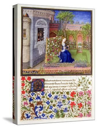 The prisoners listening to Emily singing in the garden, 1340-1341-Unknown-Stretched Canvas Print