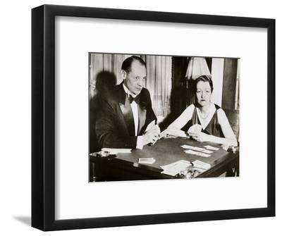 Mr and Mrs Ely Culbertson, American contract bridge players, 1931-Unknown-Framed Photographic Print
