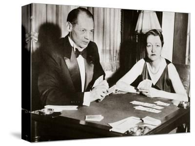 Mr and Mrs Ely Culbertson, American contract bridge players, 1931-Unknown-Stretched Canvas Print