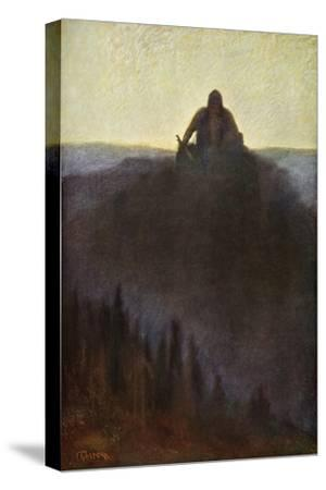 'Wotan Waits in Valhalla for the End with his Broken Spear', 1906-Unknown-Stretched Canvas Print