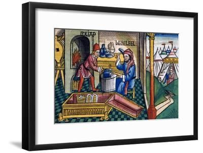 Exodus 31:2-8: Bezalel and Aholiab making the Ark of the Covenant-Unknown-Framed Giclee Print