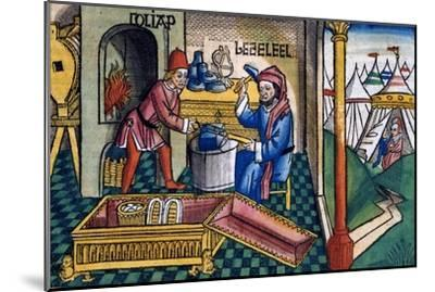 Exodus 31:2-8: Bezalel and Aholiab making the Ark of the Covenant-Unknown-Mounted Giclee Print