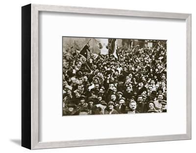 Celebrating the end of the First World War, London, November 1918-Unknown-Framed Photographic Print