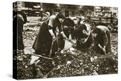 The poor of Berlin rummaging in refuse heaps, Germany, c1914-c1918-Unknown-Stretched Canvas Print