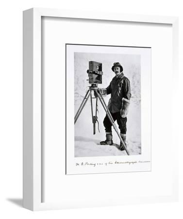 Herbert Ponting, British photographer, in the Antarctic, 1910-1912-Unknown-Framed Photographic Print