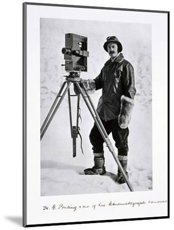 Herbert Ponting, British photographer, in the Antarctic, 1910-1912-Unknown-Mounted Photographic Print
