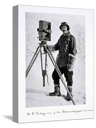 Herbert Ponting, British photographer, in the Antarctic, 1910-1912-Unknown-Stretched Canvas Print