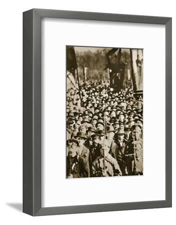 Russian revolutionaries in Petrograd (St Petersburg), Russia, 1917-Unknown-Framed Photographic Print
