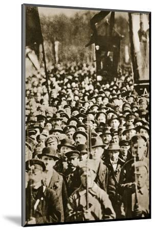 Russian revolutionaries in Petrograd (St Petersburg), Russia, 1917-Unknown-Mounted Photographic Print