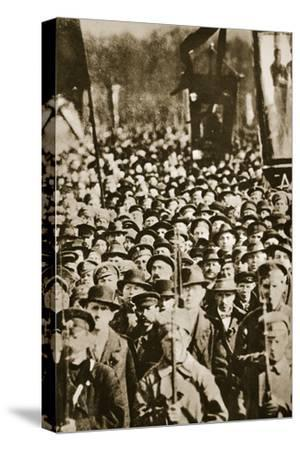 Russian revolutionaries in Petrograd (St Petersburg), Russia, 1917-Unknown-Stretched Canvas Print