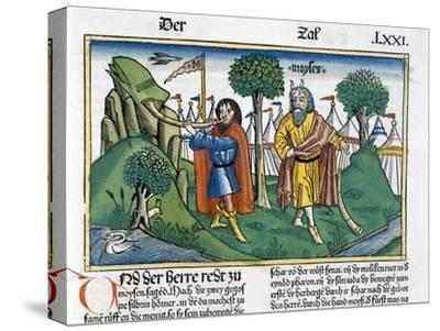Facsimile copy of Numbers 2 the camp assignments of the Israelites-Unknown-Stretched Canvas Print
