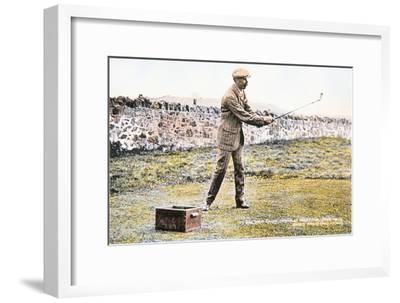 James Braid, Scottish golfer, Open championship at Muirfield, 1906-Unknown-Framed Giclee Print