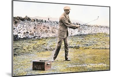 James Braid, Scottish golfer, Open championship at Muirfield, 1906-Unknown-Mounted Giclee Print