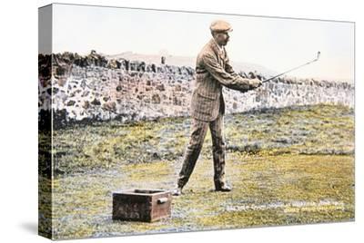 James Braid, Scottish golfer, Open championship at Muirfield, 1906-Unknown-Stretched Canvas Print