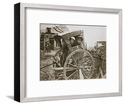 'Cab, sir!' Found in a captured village', France, World War I, 1916-Unknown-Framed Photographic Print