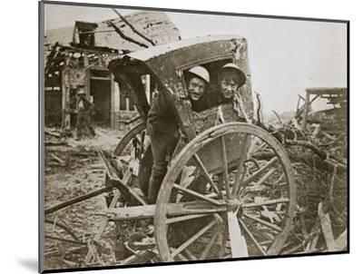 'Cab, sir!' Found in a captured village', France, World War I, 1916-Unknown-Mounted Photographic Print