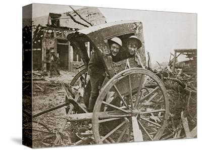 'Cab, sir!' Found in a captured village', France, World War I, 1916-Unknown-Stretched Canvas Print