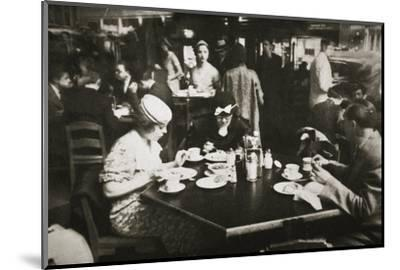 Office workers lunching in a restaurant, New York, USA, early 1930s-Unknown-Mounted Photographic Print