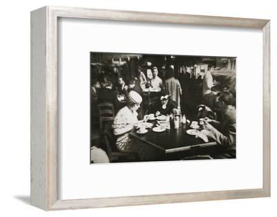 Office workers lunching in a restaurant, New York, USA, early 1930s-Unknown-Framed Photographic Print
