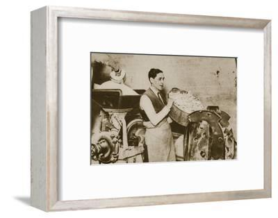 Jewish bakery preparing unleavened bread for Passover, 20th century-Unknown-Framed Photographic Print